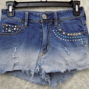 Kendall & Kylie Size 3 Distressed Ombré shorts